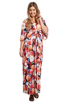 5139826b006ad PinkBlush Maternity Floral Wrap Maxi Dress at Amazon Women's Clothing store: