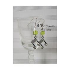 Orecchini AG925  crome con strass e cubo lemon di OperaMiaShop
