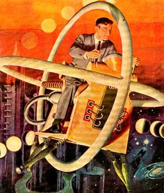 "Cover illustration by Lou Cameron for the 1951 issue ""Classics Illustrated: The Time Machine"""