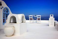 'Have a seat at Firostefani - Santorini island' by Hercules Milas Santorini Island, Block Wall, Framed Prints, Canvas Prints, Hercules, Greek Islands, Wall Tapestry, Decorative Throw Pillows, Art Boards