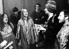 the mamas and the papas rehearsing at the monterey pop festival, 1967