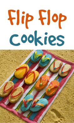 Flip Flop Cookies Recipe! {these would be SO cute for your beach or summer parties!} #cookie #recipes