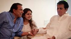 Latest pic of #DilipKumar with #Dharamendra  www.bollywoodirect.com
