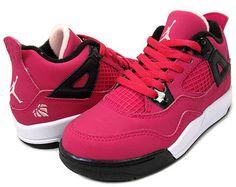 NIKE GIRLS JORDAN 4 RETRO PS Valentine's Day oh sweet jesus yes!!!