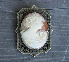Antique Cameo Filligree Brooch or Pin on Etsy, Sold