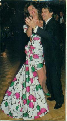 Carolina en una gala en Miami en 1988.