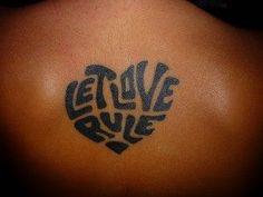 Let love rule....