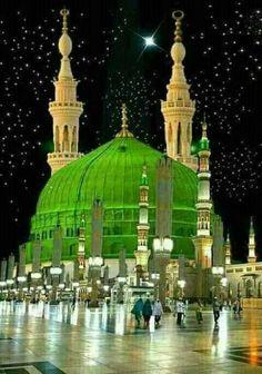 Holy shrine of prophet Muhammad s. Beautiful Mosques, Beautiful Buildings, Beautiful Landscapes, Beautiful Places, Beautiful Architecture, Islamic Images, Islamic Pictures, Islamic Art, Islamic Wallpaper Hd