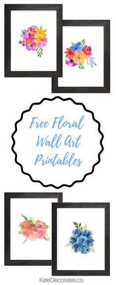 Walls need some love? Then download something pretty from my gallery of FREE printable wall art, created just for Kate Decorates readers!