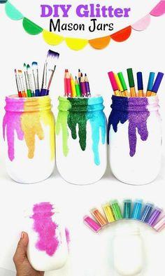 17 Creative Ways to Use Mason Jars #diymasonjar #masonjars