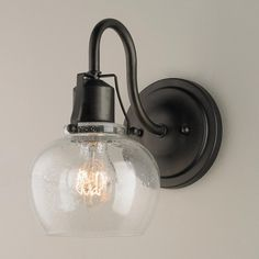 Rustic Iron Industrial Revolution Wall Sconce - Shades of Light