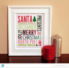 (image) Christmas Subway Art
