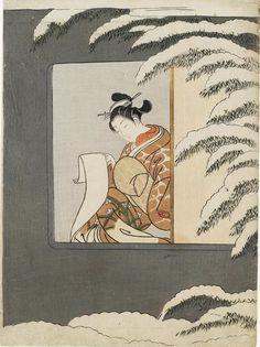 Title:見立孫康 Parody of Sun Kang Artist:鈴木春信 Suzuki Harunobu