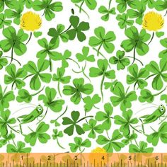 Briar Rose 37026-7 Yellow Cricket Clover by Heather Ross for Windham