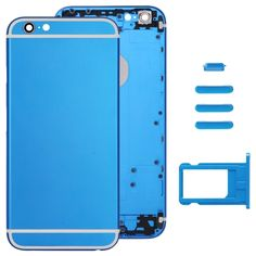 [$22.06] iPartsBuy Full Assembly Replacement Housing Cover for iPhone 6, Including Back Cover & Card Tray & Volume Control Key & Power Button & Mute Switch Vibrator Key(Dark Blue)