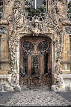 Ornate Front Door.