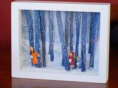 diorama ideas Diorama by Alana Aceves Shadow Box Kunst, Shadow Box Art, Tableaux Vivants, Fun Crafts, Paper Crafts, Creation Deco, Paper Illustration, Winter Art, Art Education