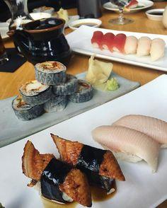 ✌️ | soft shell crab roll, nigiris de hamachi, anguila y atún | #tunalovers #hamachi #nigiris #softshellcrab #cdmxeats #foodies #foodporn #japanesefood @grupohunan  Yummery - best recipes. Follow Us! #foodporn