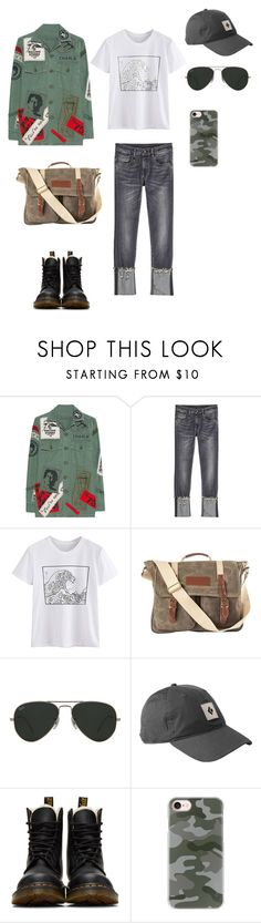 """Милитари"" by messagekrd on Polyvore featuring мода, MadeWorn, R13, Cathy's Concepts, Ray-Ban, Dr. Martens и Casetify"