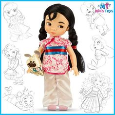 Disney Store Disney Animators' Collection Mulan Doll - NEW Disney Animators, Disney Animator Doll, Disney Pixar, Walt Disney, Disney Characters, Ariel Disney, Mulan Doll, Disney Princess Dolls, Disney Dolls