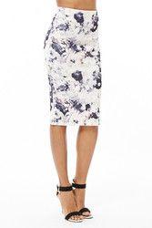 New Listing Started Scuba Floral Midi Skirt £13.99
