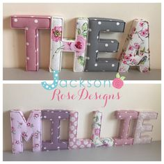 Letter Wall Art, 3d Letters, Boy Girl Room, Boy Or Girl, Nursery Letters Girl, Girl Bedroom Walls, Typography, Lettering, Fabric Names