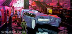 Syd Mead is most famous for his designs for science fiction films, including Blade Runner, Aliens and Tron. We're excited, though, to check out. Blade Runner, Arte Cyberpunk, Cyberpunk 2077, Syd Mead, 70s Sci Fi Art, New Retro Wave, Retro Waves, Wall E, Matte Painting