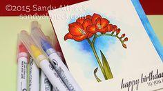 Sandy Allnock - Watercolor Freesias Clean Color Marker