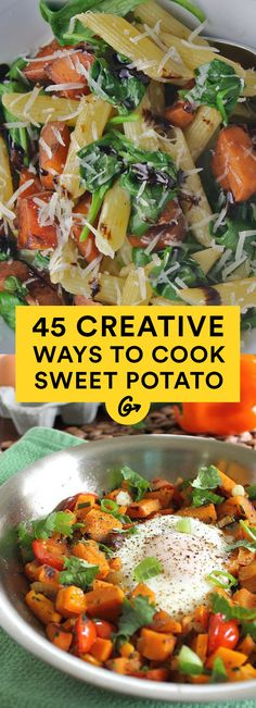 Not only for stuffing, these orange taters are amazing at every meal, from savory breakfasts to... #healthy #sweetpotato #recipes http://greatist.com/health/45-delicious-and-healthy-sweet-potato-recipes