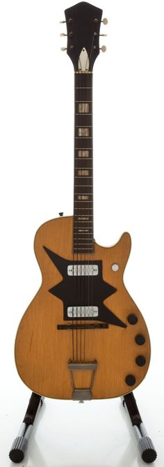 Musical Instruments:Electric Guitars, 1960's Harmony Roy Smeck Natural Solid Body Electric Guitar... Image #1