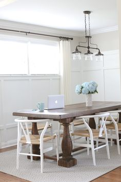 Love This Bright And White Dining Room. The DIY Board And Batten With The  Large
