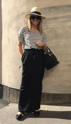 Maxi skirt and five different styles