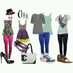 Back to school outfit love the one on the end