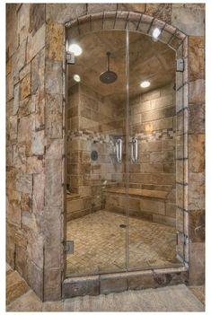 Rustic Bathroom Designs, Rustic Bathrooms, Chic Bathrooms, Dream Bathrooms, Bathroom Interior Design, Amazing Bathrooms, Rustic Master Bathroom, Decorating Bathrooms, Restroom Design