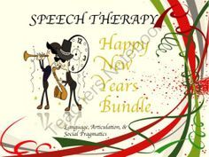 Speech Therapy New Years Bundle: Language, Articulation, & Social Pragmatics from Speech Therapy on TeachersNotebook.com (49 pages)  - peech Therapy New Years Bundle: Language, Articulation, & Social Pragmatics