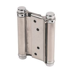 #Eclipse Spring Hinges Satin S#Eclipse Steel Fixed Pin Hinges Self-Colour 25 x #Steel construction. Self-colour finish.tainless Steel 43 x #Stainless steel double action spring hinge in satin finish.