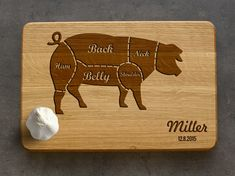 Personalized Cutting Board Engraved Pork Cuts Cutting Board Custom Engraved Cutting Board Christmas Gift for Her Gift for Him Foodie Gift Custom Cutting Boards, Engraved Cutting Board, Personalized Cutting Board, Cnc Projects, Cozy Kitchen, Engraved Gifts, Unique Presents, Christmas Gifts For Her, Pyrography