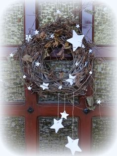 Exceptional The Door Crown, Version 20 - Sylvies oranges Internet-Tagebuch Exceptional The Noel Christmas, Primitive Christmas, Christmas 2019, White Christmas, Christmas Wreaths, Christmas Crafts, Xmas, Primitive Decor, Handmade Christmas Decorations