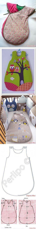 Saco de dormir para los niños.  Ideas + patrón.  - Todas las lecciones de costura ... modelaje, tecnología - casa las mamás