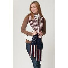 My favorite source for arts and crafts:  Free Stripes and Squares Scarf Pattern
