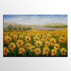 Lots of Texture, Landscape Painting, Sunflower Painting, Large Oil Painting, Large Art, Canvas Art, Abstract Art, Large Art, Wall Art, Abstract Painting Heavy Texture Oil Painting Painting Size: 32x48 inches (80X120CM) Thanks for stopping by! To view more of my unique artworks please