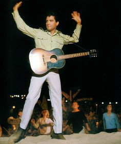"Elvis sings 'Do the Clam' during a scene in ""Girl Happy"" 