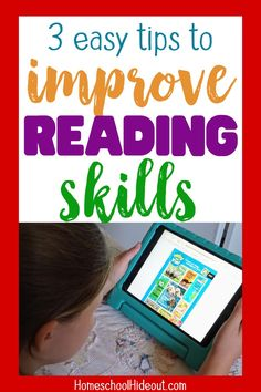 These easy ideas were perfect to improve reading skills, without a lot of effort! Curriculum Planner, Homeschool Curriculum, Homeschooling, Homeschool High School, Tot School, Middle School, Educational Youtube Channels, Improve Reading Skills, Problem Solving Skills