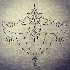 prendre juste les chaines sur les côtés pour les cicatrices sous les seins et on garde la fleur de lotus au milieu