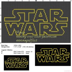 Logo Star Wars patrón punto de cruz