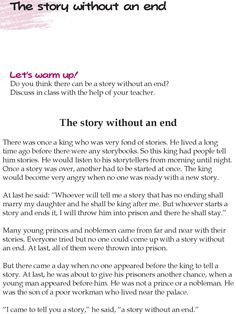 Grade 5 Reading Lesson 23 Short Stories – The Story Without An End