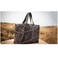 Leather Tote - Ava Gray
