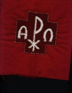 Seasonal altar cloth - 1 of 4  Hand beaded.