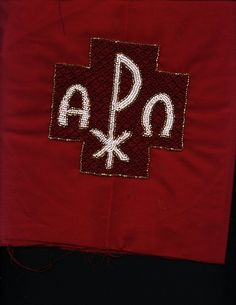 Seasonal altar cloth - 1 of 4  Hand beaded.