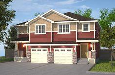 Featuring Redwood/Sand with Wicker Trim. Double Garage, Semi Detached, Wicker, Garage Doors, Shed, New Homes, Floor Plans, Exterior, Outdoor Structures